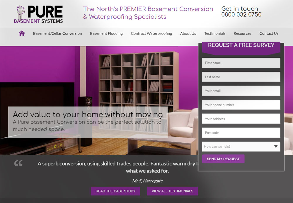 Digital Marketing Case Study: Pure Basement Systems