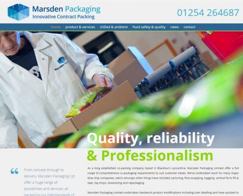 Website development & marketing for food packaging busines