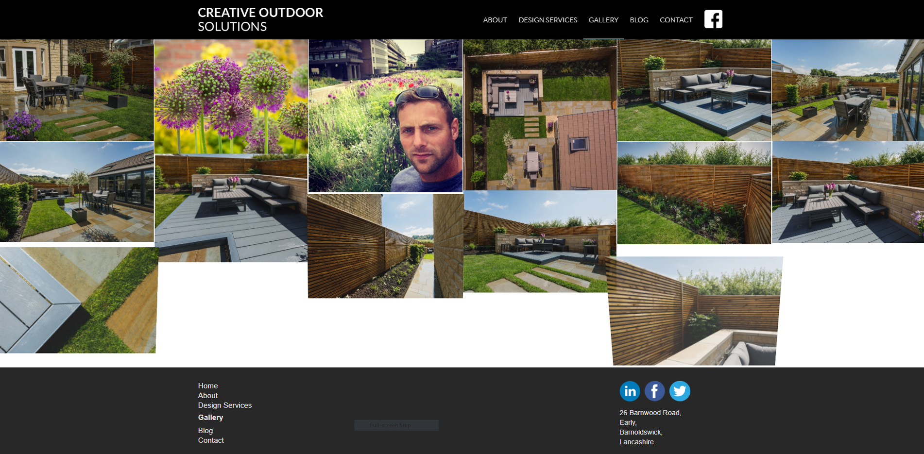Creative Outdoor Solutions website design